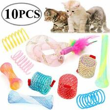 Legendog Cat Spring Toy, 10 Pack Plastic Springs Cat Toys Colorful Cat Toy with