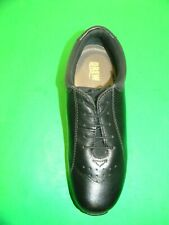 Men,s  DREW #10202  leather lace up  slip resistant comfort shoe Black Size 10N