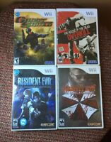Wii Game Lot Resident Evil Darkside Umbrella Chronicles House Of The Dead TESTED