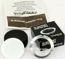 Voigtlander M-Bayonet Adapter for LEICA L39 fit 28-90mm Lenses on LEICA M3 M6 M9