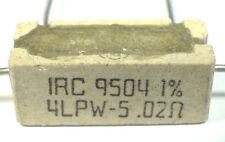 RESISTOR CURRENT-SENSING 4-WIRE - 0.02-Ohm 1% 5-Watt - IRC 4LPW-5 *UNUSED* Qty:4
