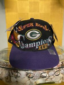 1997 LOGO ATHLETIC Green Bay Packers Super Bowl XXXI Champs Snapback Hat NWT
