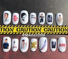 Dexter Nail art (water decals) Horror Nail Art Decals