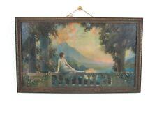 R Atkinson Fox Sunset Dreams Original Lithograph 1930s Period Frame
