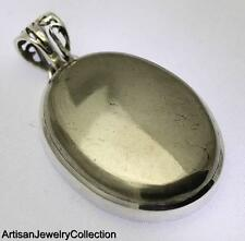 PYRITE PENDANT 925 STERLING SILVER ARTISAN JEWELRY COLLECTION Y207B