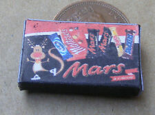 1:12 Empty Mars Christmas Selection Packet Dolls House Miniature Food Accessory