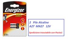 2 pile A27 MN27  ENERGIZER 12 Volt  CA22  EL812 x telecomando cancello, allarme