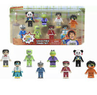 Ryan's World 8-Piece Mini Collectible Figure Set, Ages 3 + (New Factory Sealed)
