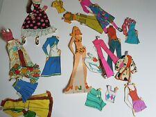 PJ Mattel 1972 Paper Doll Set Vintage Lot