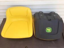 RIDING GARDEN TRACTOR LAWN MOWER SEAT FITS JOHN DEERE W/DECAL