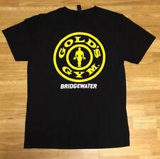 Gold's Gym Bridgewater Eat Clean Bro Weight Lifting Black Shirt Size Large