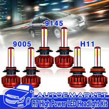 4-Side H11 9005 LED Headlight Hi Lo Beam+Fog Light 9145 9140 for 15-17 Ford F150