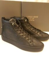 ANDROID HOMME Alfa Mid Trainers size EU44 UK 10 in black leather AHI1706003