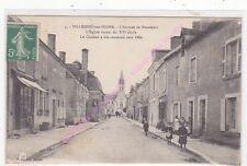 CPA 36320 VILLEDIEU SUR INDRE Arrivée de Buzançais église animation ca 1919