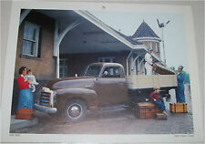 1950 GMC Flatbed truck print (brown)