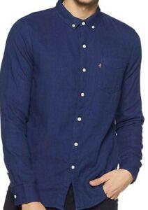 Mens Genuine Levi One Pocket Navy Blue Soft Cotton Shirt  M & L - CLEARANCE