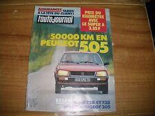 L'AUTO JOURNAL BANC D'ESSAI BMW 728 i et 732 i 50000 KM EN PEUGEOT 505 STI