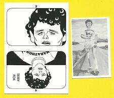Terry Fox  Fab Card Collection cross Canada run awareness for Cancer Research