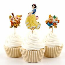 DISNEY SNOW WHITE & THE 7 DWARFS CUPCAKE TOPPER 24 PCS PICKS SNOWWHITE