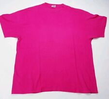 Vintage Plain Hanes BEEFY- T-Shirt - Deep Pink - Single Stitch