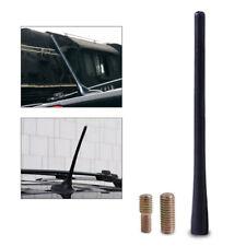 "8"" Universal Fit Black Short Stubby Mast Car Truck AM/FM Antenna Aerial +Screws"
