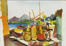 Kunstpostkarte -  August Macke:  Landschaft bei Hammamet,  1914