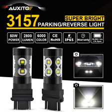 1Pair 100W CREE 3157 3156 LED Parking Backup Reverse Light White 6000K 2800LM AU