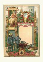 1 Individuell Ehrenurkunde Hutmacher Hut Zunftwappen Zunft 1895 Geschenk 42x30