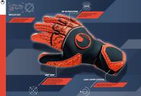 uhlsport Soccer Supergrip Reflex Mens Goalkeeper GK Goalie Gloves
