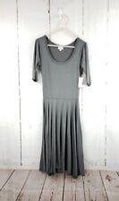 NWT LuLaRoe Nicole Dress XS Solid Gray Rayon Spandex