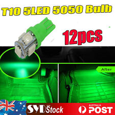 12x GREEN LED  T10 W5W Festoon Dash Interior Dome Map Door No. Plate Light Bulbs