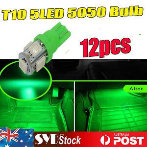 12x GREEN LED  T10 W5W Festoon Dash Interior Dome Map Door No. Plate Light Bulbs