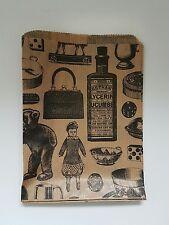 Kraft Paper Gift Bag Victorian Vintage Printed Sml 5x7 1000 Pieces Craftshop
