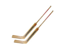 "2 New Warrior Woodrow 21"" junior Goalie Sticks left hand LH Emery wood"