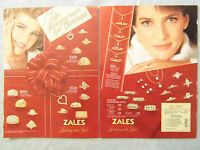 1985 Magazine Advertisement Ad Page Zales Jewelry Store Rings Necklaces Bracelet