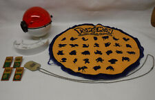 Pokemon Blastoise Poke Ball Marble Shooter, Playmat, League Pins & Dog Tag WORKS