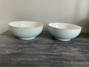 Denby Blue Linen Cereal Bowls X 2 (read Description)