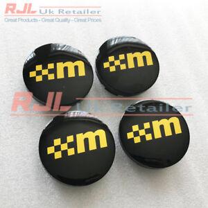 Yellow Mountune Black Base St/Rs Facelift Alloy Wheel Centre Caps 54.5mm