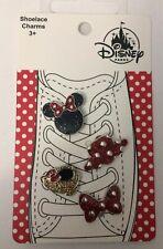 Disney Minnie Mouse Shoelace Charm Set of 4