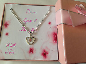 Gift for Special Daughter Niece Friend Grand daughter Girls Necklace in Gift Box