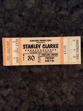 Stanley Clarke 1978 Unused Concert Ticket Portland Oregon Paramount Theatre