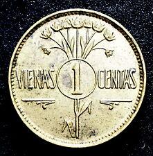 1925 LITHUANIA 1 ONE CENTAS COIN EF