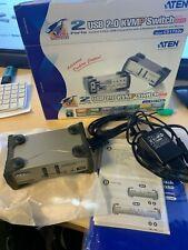 ATEN CS1732B KVM Switch VGA, PS/2-USB, Audio, USB-Hub, 2 Ports