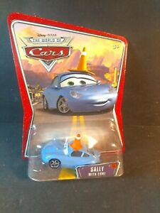 Disney Pixar Cars World of Cars Sally With Cone Rare