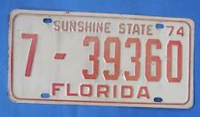 1974 Florida license plate