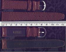 BRAND NEW 18 MM ACCUTRON BROWN GENUINE LEATHER LIZARD GRAIN W/SILVER BUCKLE BAND