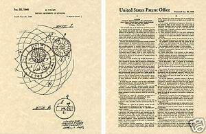Original SPIROGRAPH US PATENT Art Print READY TO FRAME! Denys Fisher design draw