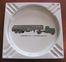 Vintage A C Widenhouse Trucking Co Ashtray CONCORD-WILMINGTON NC Oil Gas Tanker