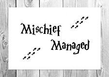 Mischief Managed - Harry Potter - Marauders Map - Art Print - A4 Size