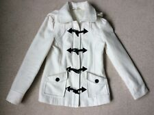 Cream duffle coat with hood size 8